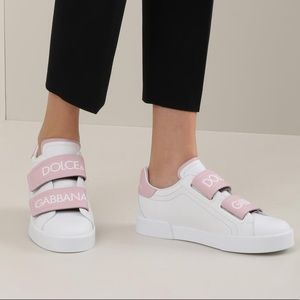 Dolce & Gabbana Pink Velcro Shoes